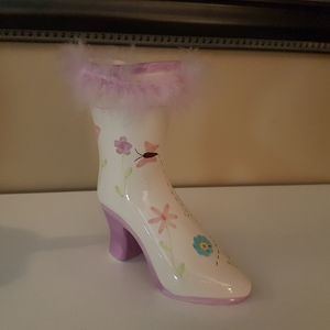 Other - Girly boot vase, 8 inches